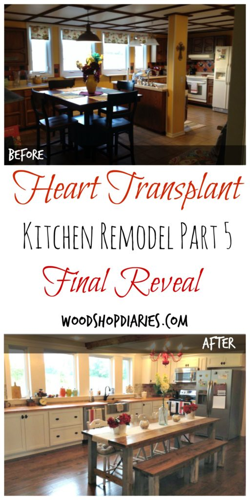 Dark and Yellow to Bright and Airy Kitchen Remodel Reveal--Kitchen Remodel Part 5 Final Reveal--Woodshop Diaries