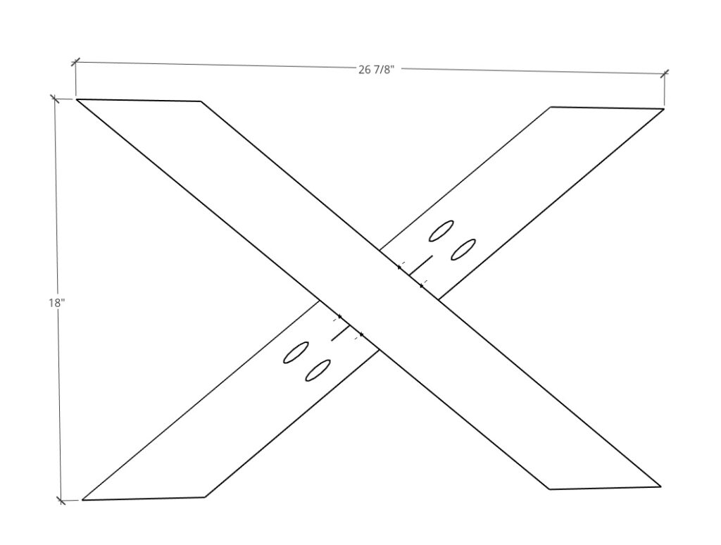 Main X of table base