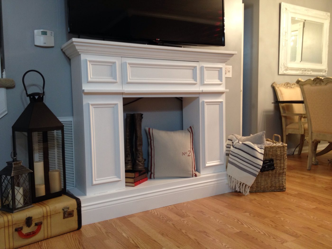 Build A Fake Fireplace Fake It Til You Make It The Making Of A Faux Fireplace