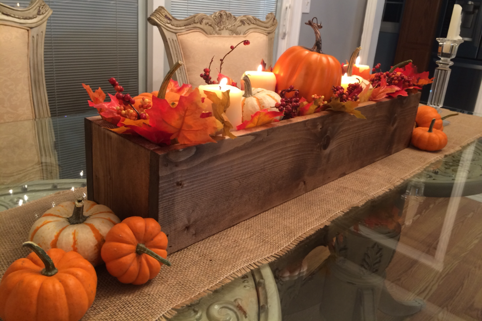 How to make a super easy wood centerpiece box