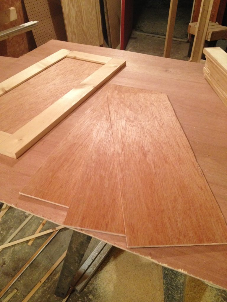 shaker cabinet doors dry fit together with inside panel