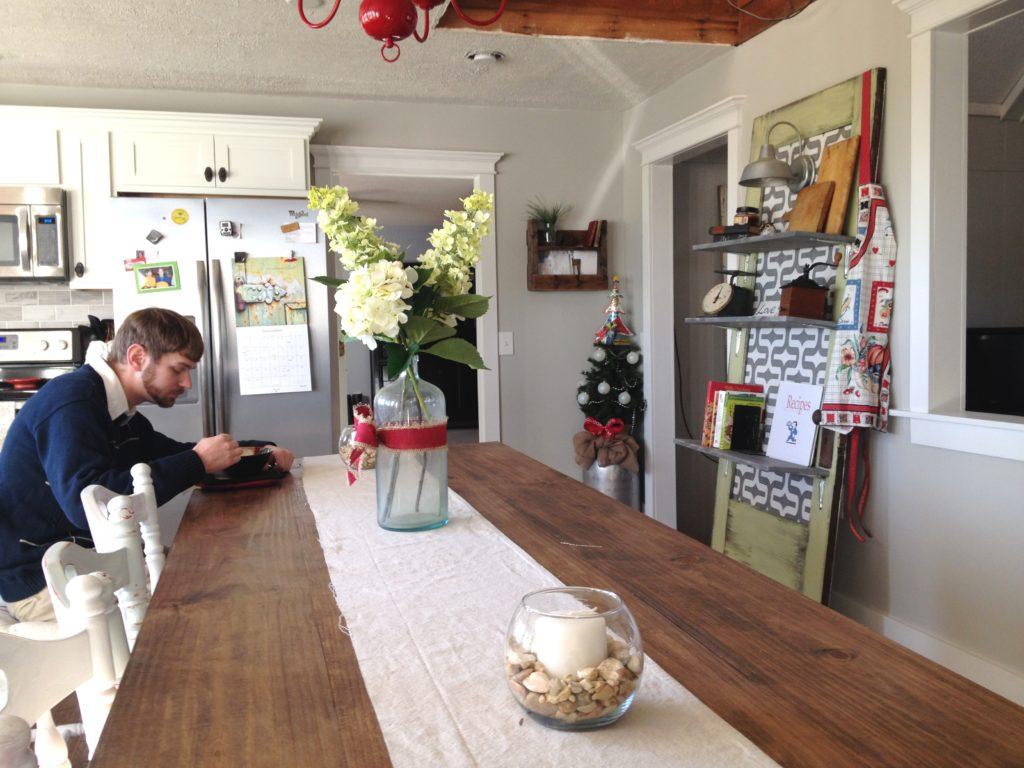 DIY Farmhouse Dining Table for less than $150