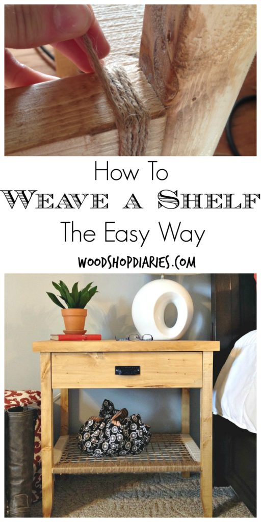 The easy way to weave a shelf--Woodshop Diaries