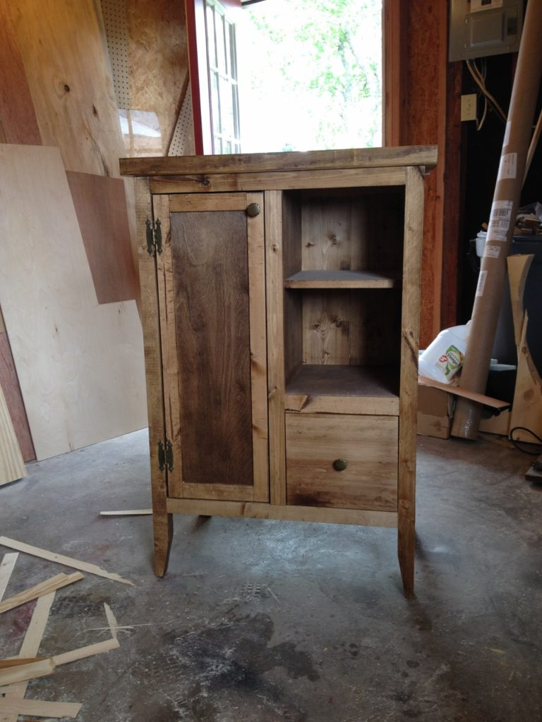 Stained cabinet in shop