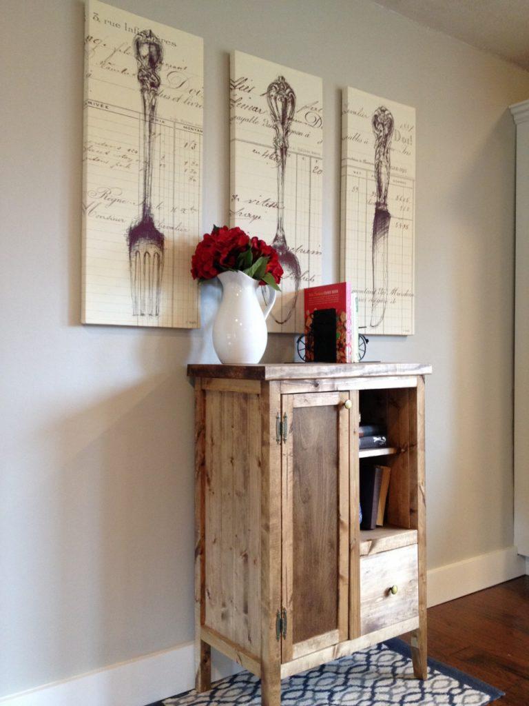 coffee cabinet angled view