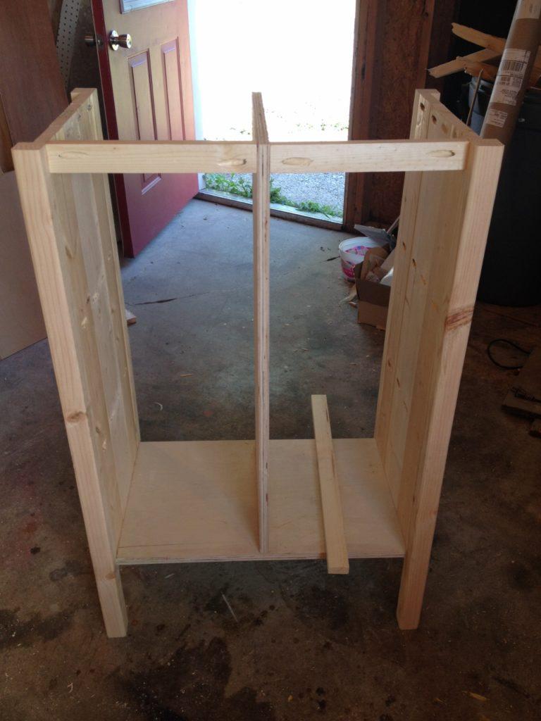 coffee cabinet back frame