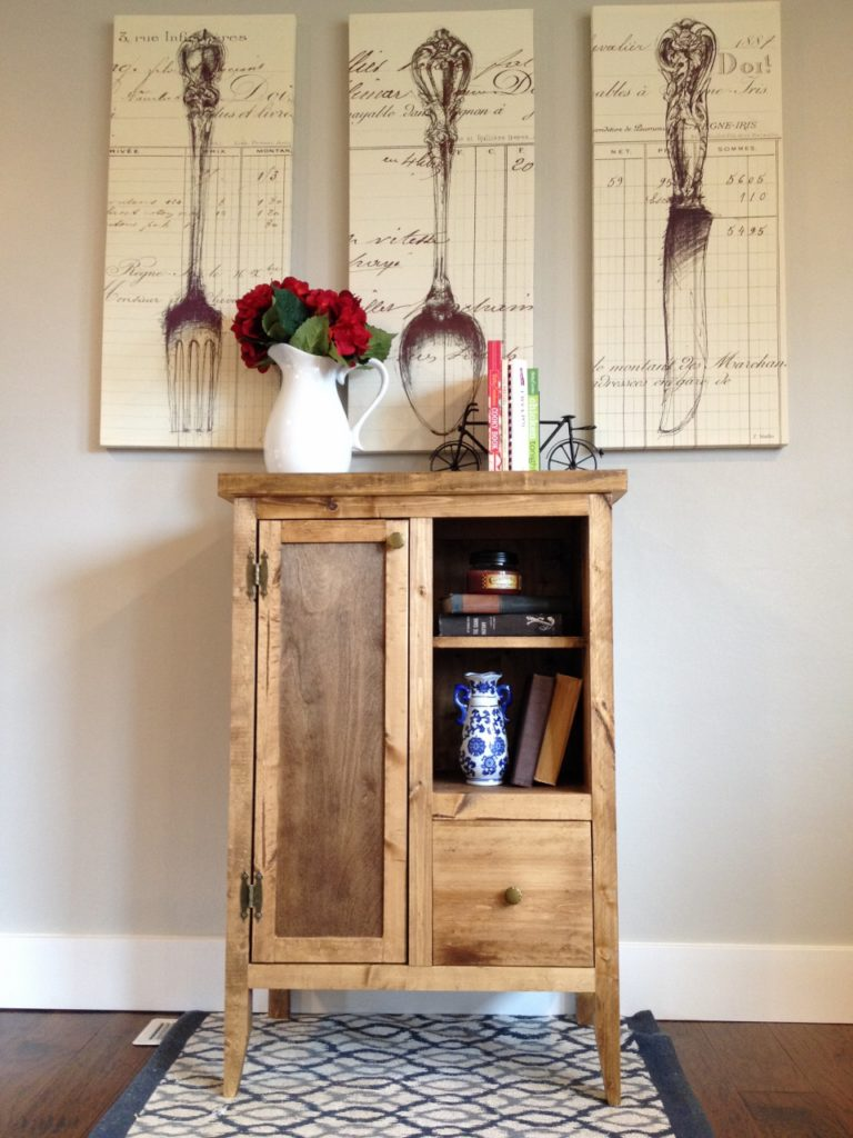 coffee cabinet front view