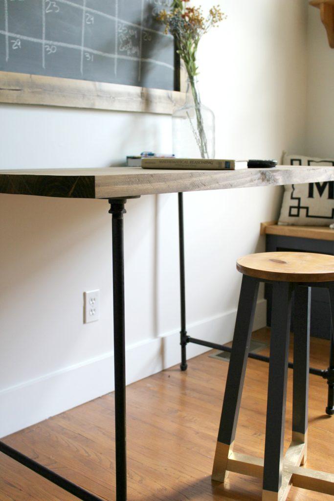 Pipe Desk Corner Close up