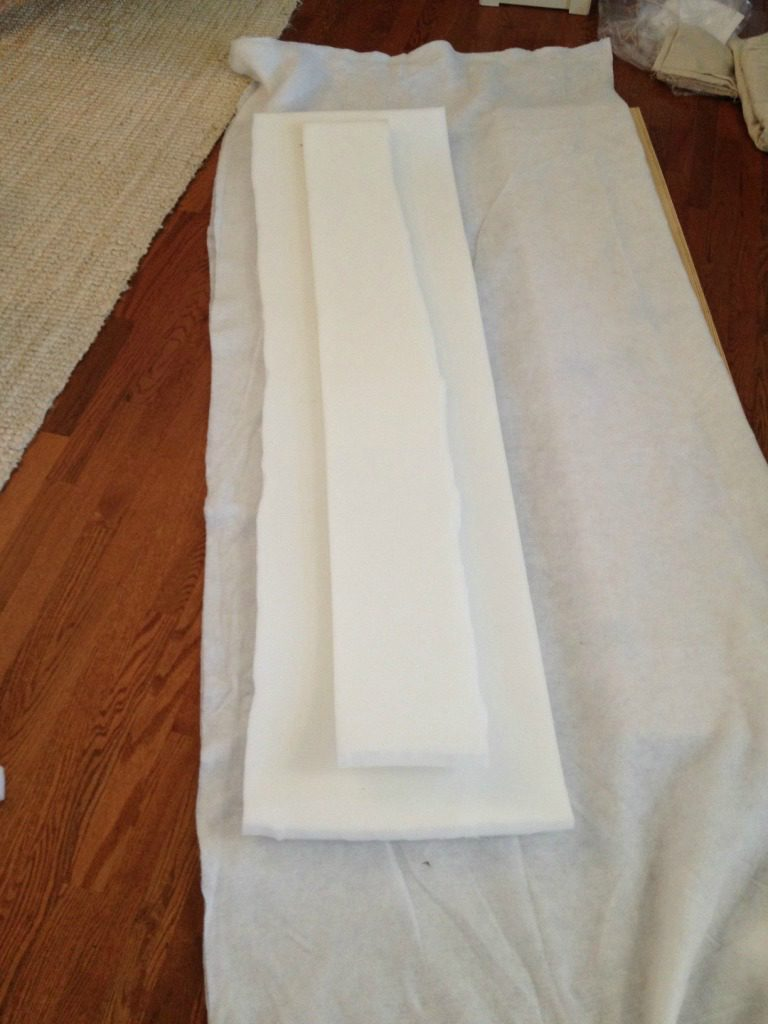 Layer materials for upholstered bench seat