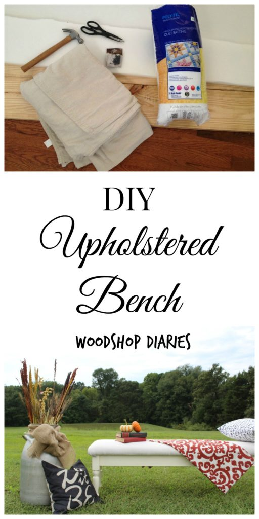 Get some cush(ion) under your tush in 5 easy steps! This DIY upholstered bench tutorial will show you how!