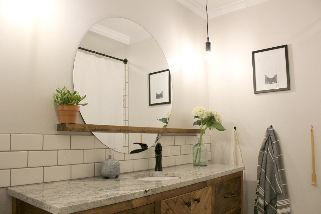 50 Bath Mirror With Shelves Decorate A Bathroom Mirror With Shelf: DIY Sunrise Mirror--A Project Born From Laziness