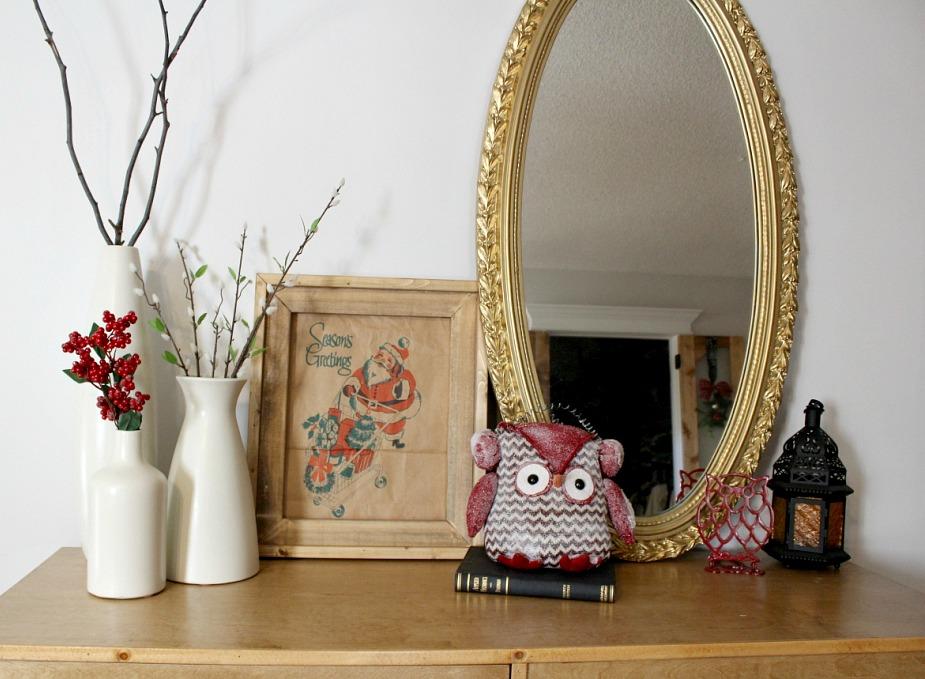 Paper Sack Christmas Art with DIY Frame