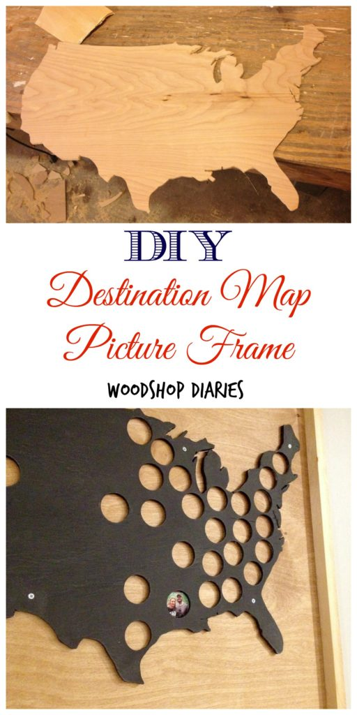 How to make a DIY destination map picture frame