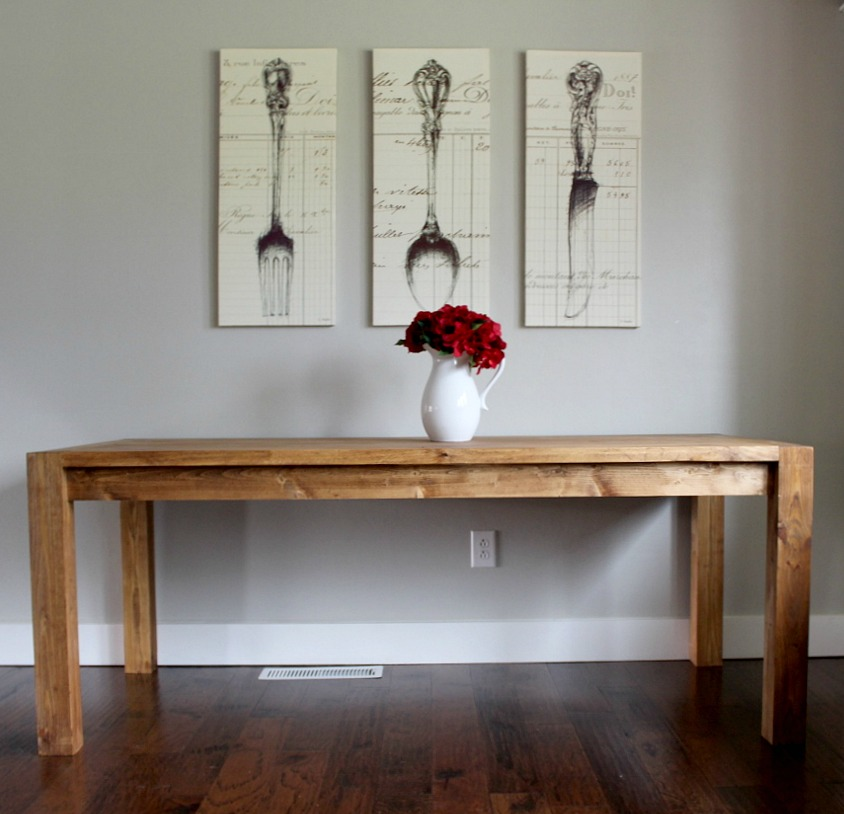 How to build a modern farmhouse dining table for Building a farmhouse