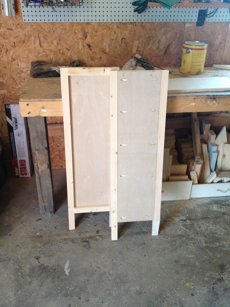 DIY Entryway Cabinet or Shoe Cabinet with a super cool door design!