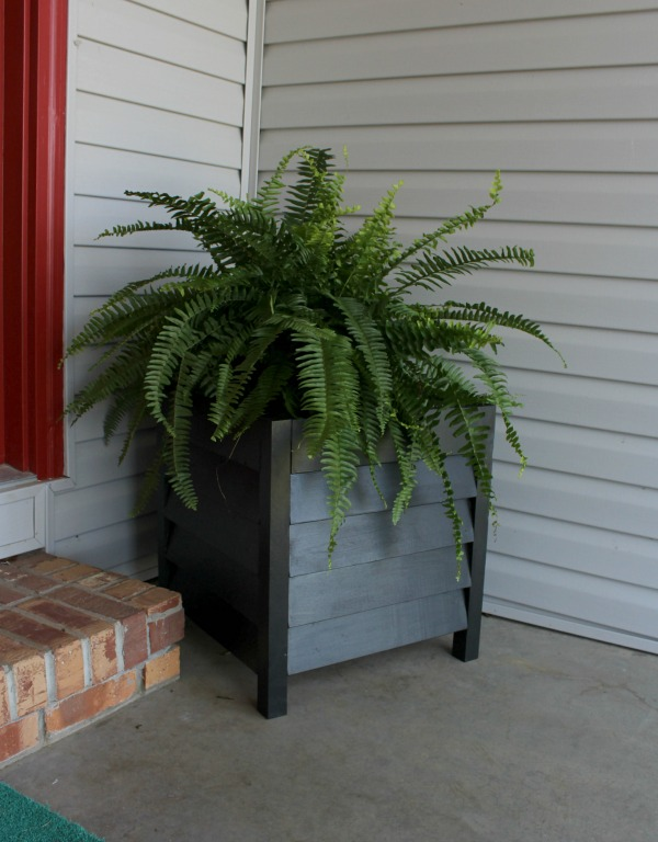 How to Build DIY Louvered Wood Planter Boxes