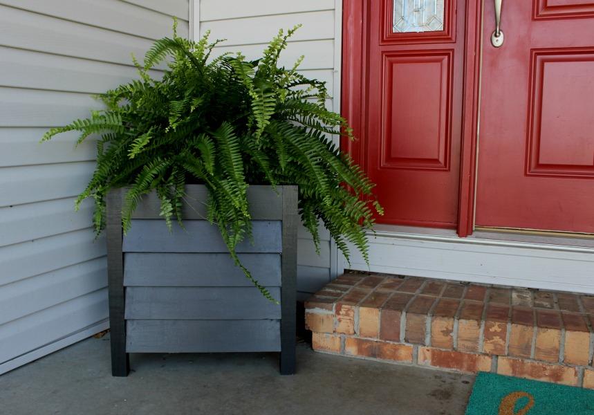 DIY Louvered Wood Planters