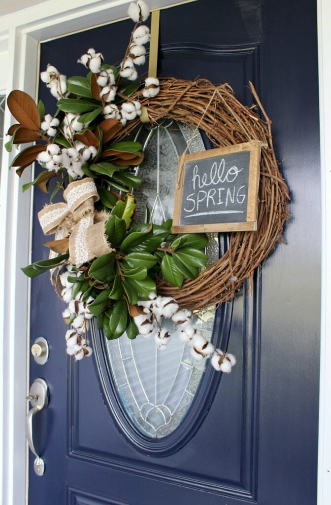 Super Easy DIY Spring Wreath that you can make in 5 minutes!
