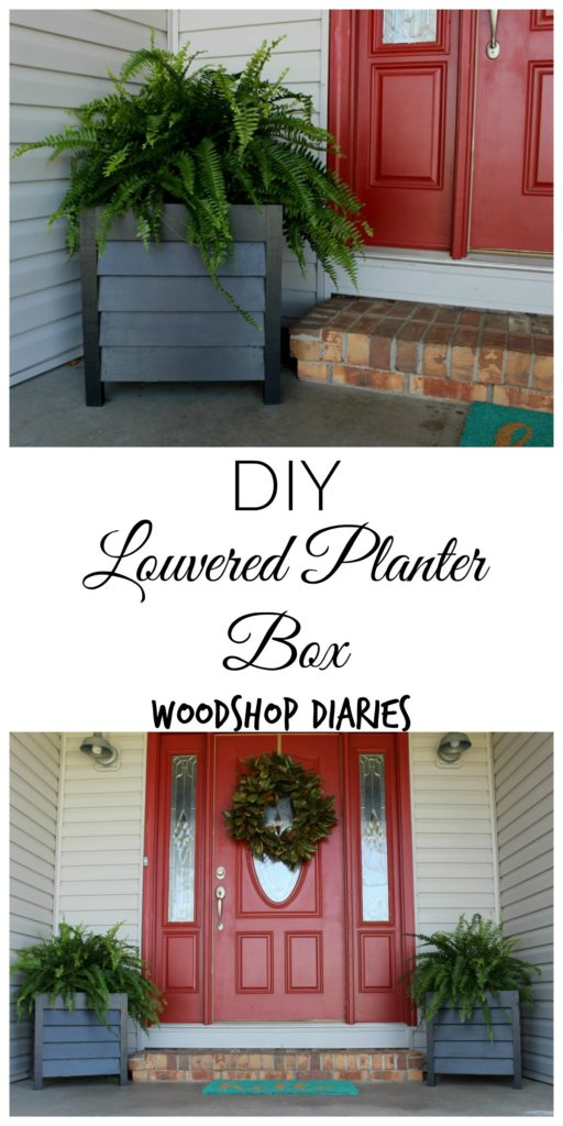 How to Build an Easy DIY Louvered Wood Planter Box