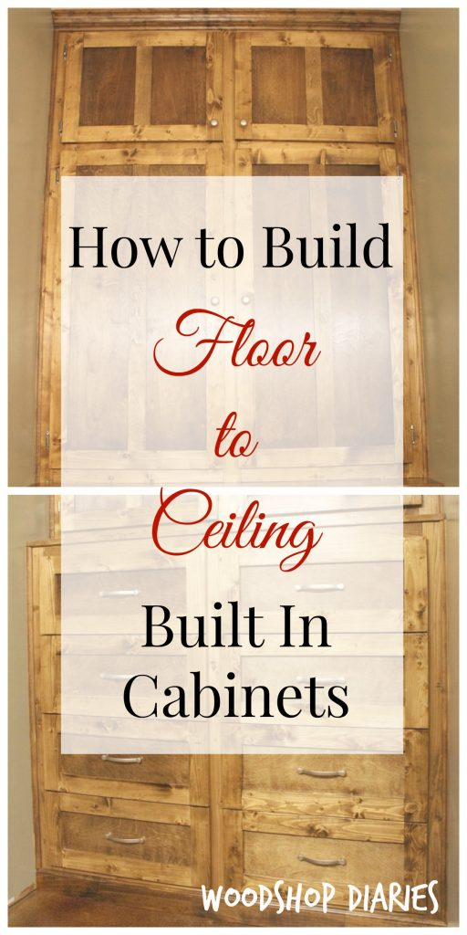 How to build your own DIY floor to ceiling built ins