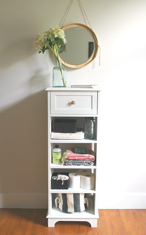DIY Tall Skinny Bathroom Storage Cabinet