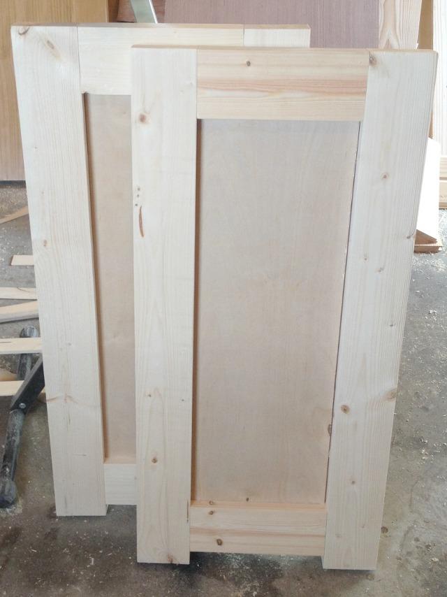 Two side frame panels built for DIY aquarium tank cabinet