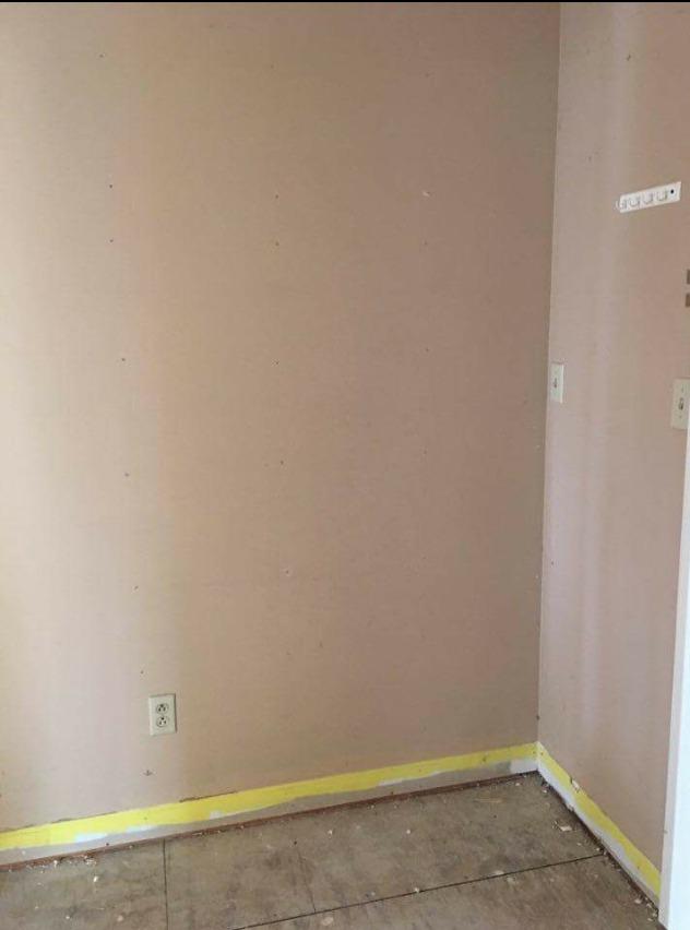 Mudroom before right side empty corner