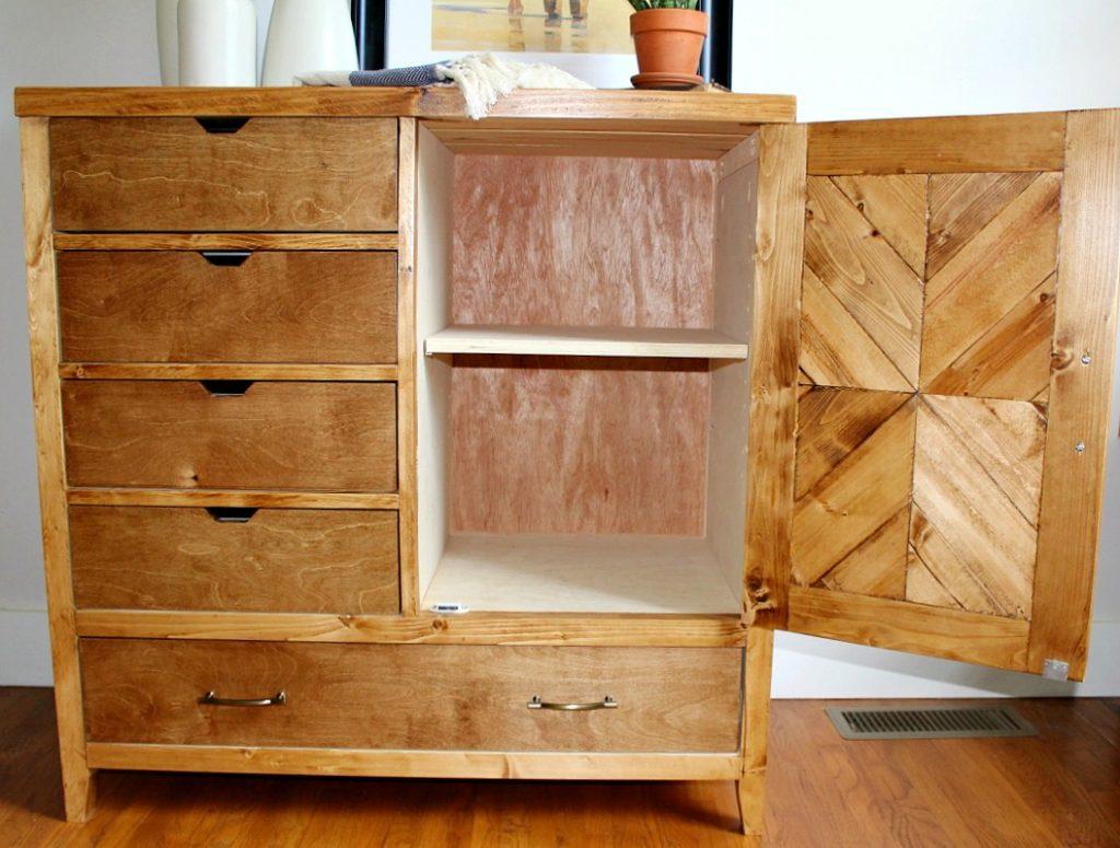 How to build a Modern DIY Dresser Armoire