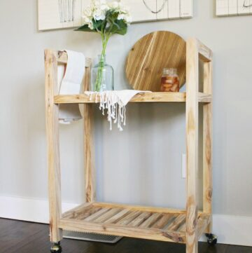 How to Build a DIY Bar Cart from One Board