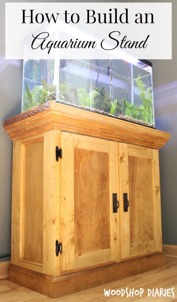 How to Build a DIY Aquarium Cabinet Stand Pinterest Image