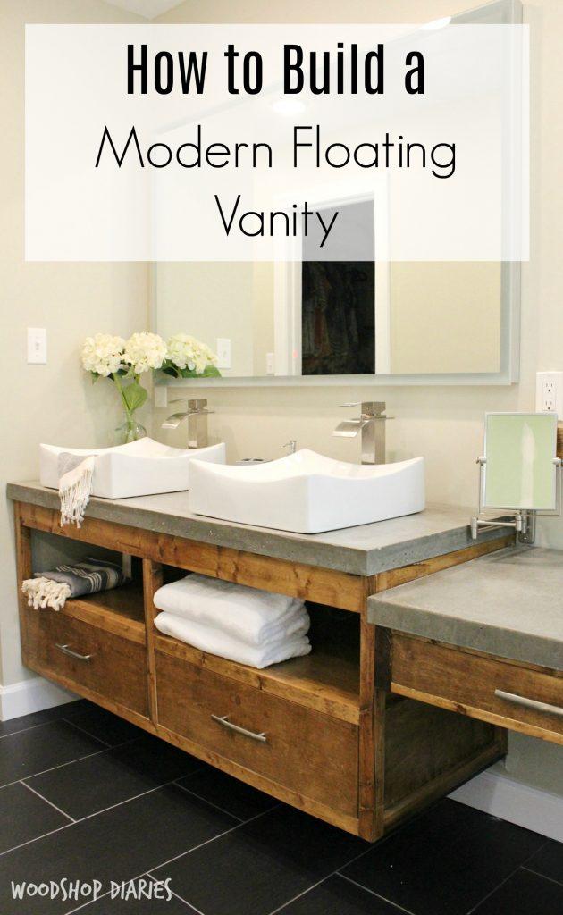 Modern DIY bathroom vanity pin image