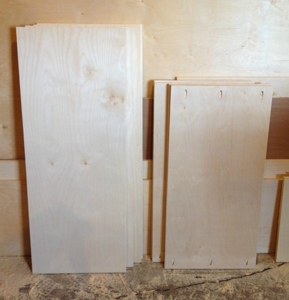 Plywood cuts to build DIY storage console cabinet