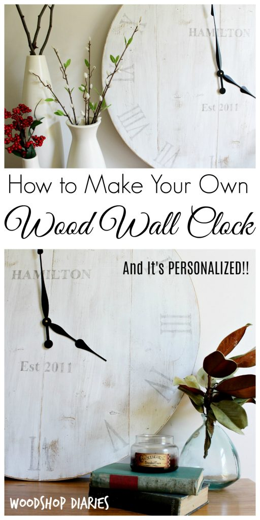 How to make your own rustic wooden wall clock with this easy DIY tutorial