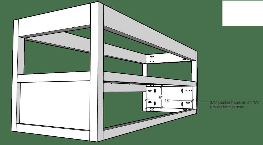Assemble side panels into floating vanity frame