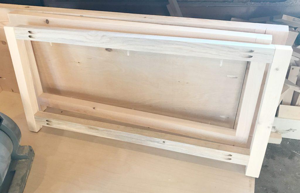 DIY Storage Chest Frame assembled