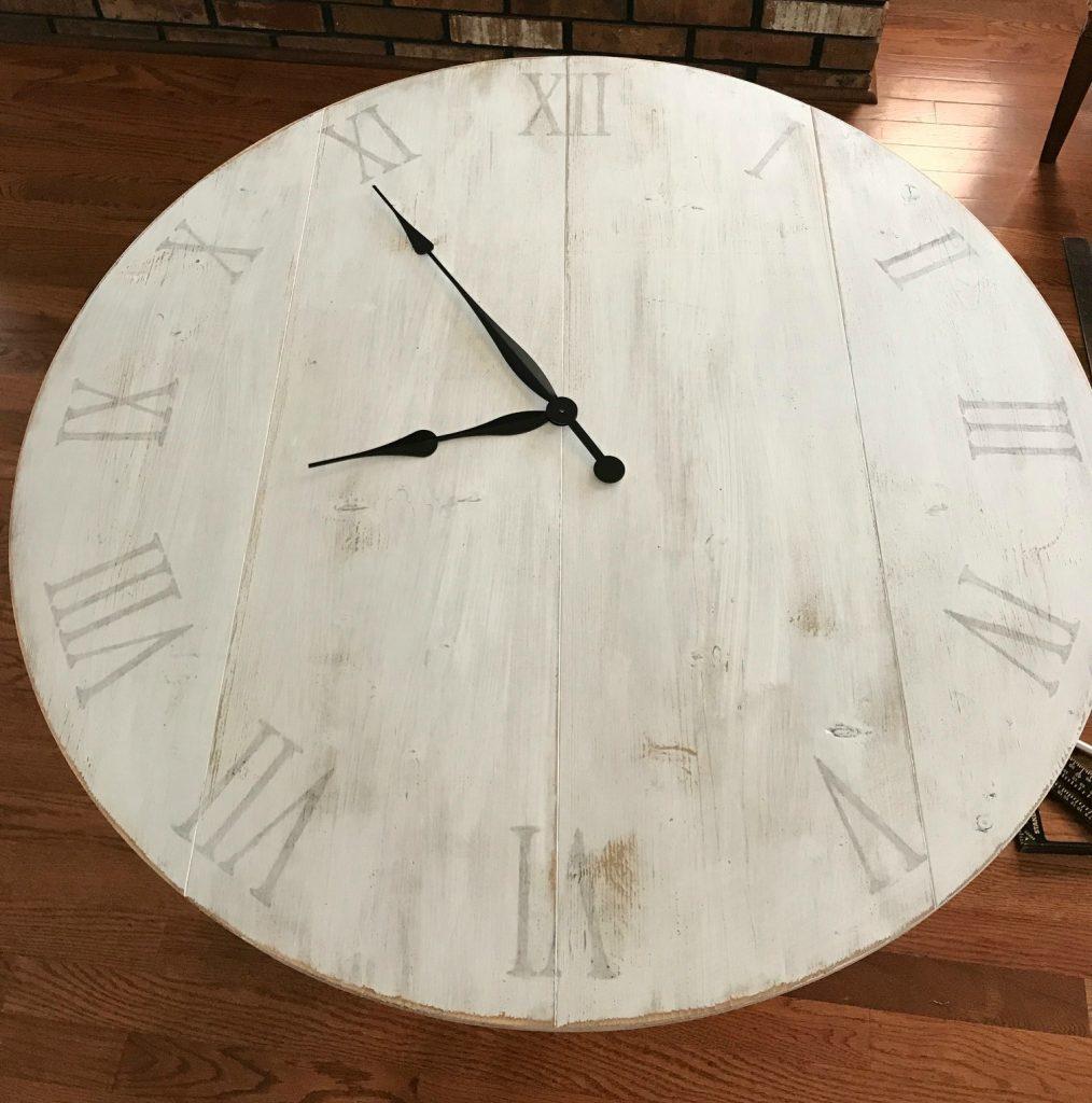Add clock hands to DIY wood clock