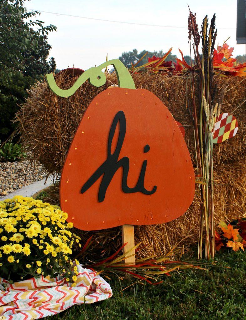 DIY Harvest Sign Virtual Party