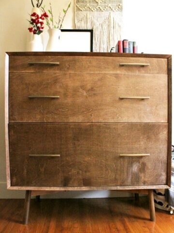 How to build a mid century modern furniture base with round angled legs