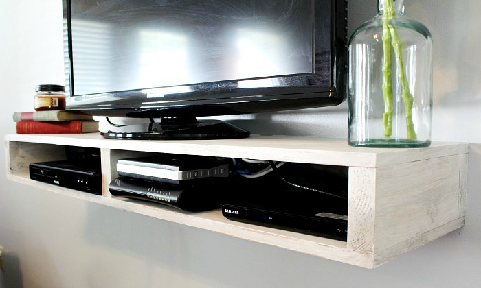 How to build an easy DIY Floating TV Stand