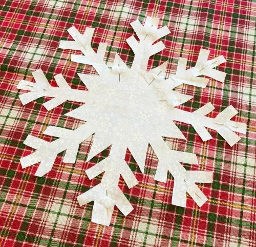 DIY Snowflake Pillow Cover