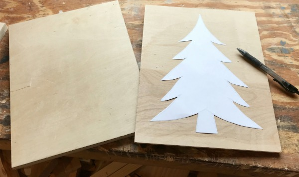 DIY Scrap Wood Christmas Ornament Signs