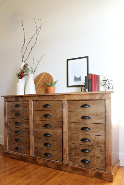 How to build a DIY Fake Drawer Apothecary Cabinet