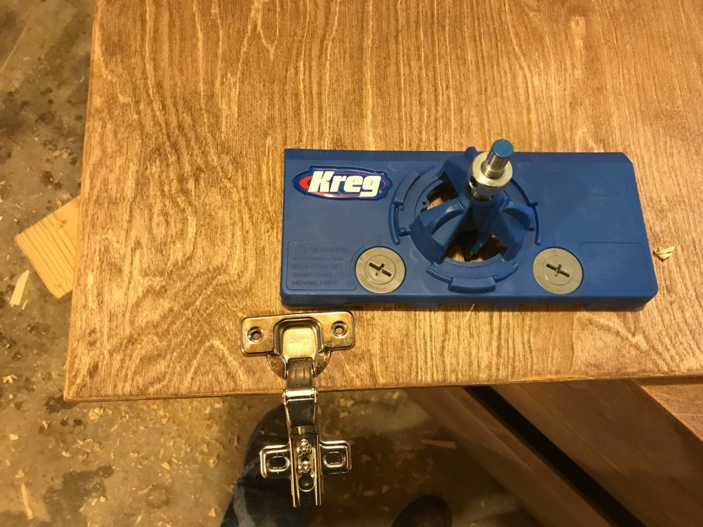 How to use Kreg Concealed Hinge Jig to make Faux Drawer Dresser