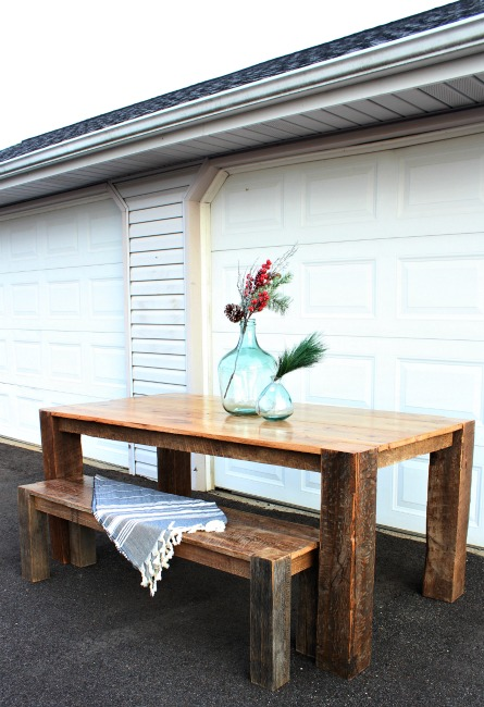 Reclaimed barn wood dining table--a how to to build your own dining table from old barn wood