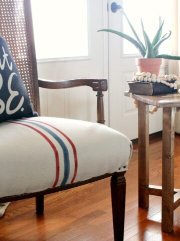 How to Build a Simple X base side table