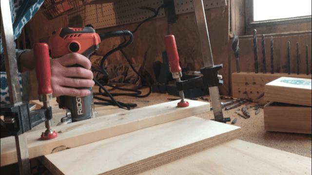 Test cutting dado for bookshelf assembly