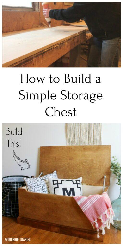 Storage Trunk Blanket Chest Pinterest Collage Image