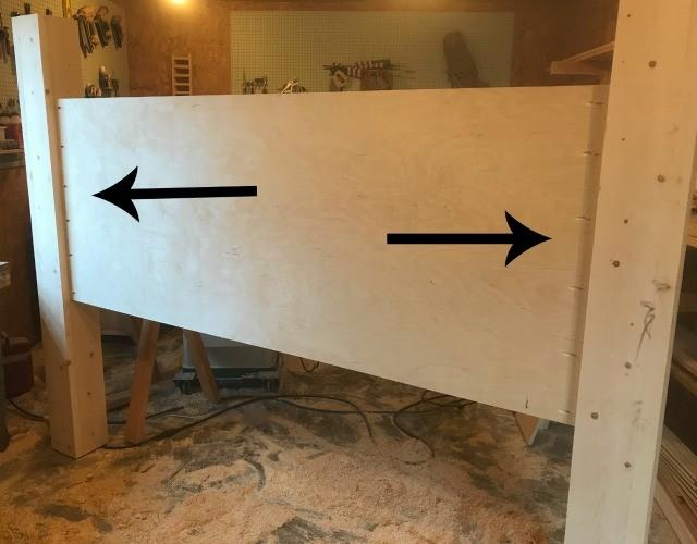 Headboard panel attached between headboard posts