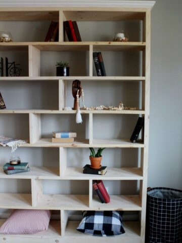 How to build a DIY bookshelf that's simple, modern, and provides plenty of display storage