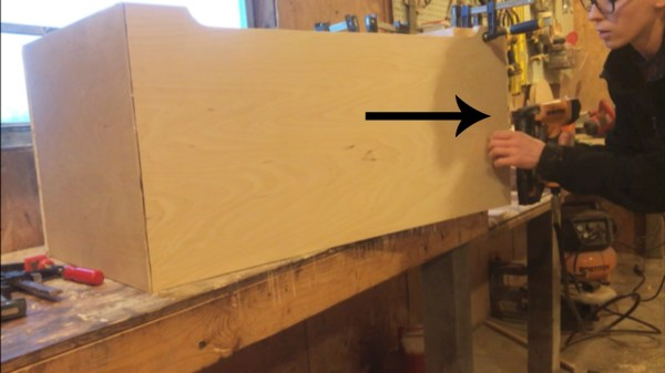 Nail corner joints of DIY storage trunk box